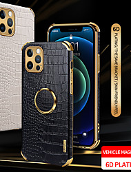 cheap -PU Leather Phone Case For Apple iPhone 12 11 SE2020 Shockproof Protective Case Ring Holder Cover for iPhone 12 Pro Max XR XS Max iPhone 8 7