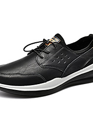 cheap -Men's Trainers Athletic Shoes Daily Leather Breathable Gray Black Spring Summer