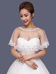 cheap -Cotton Wedding Women's Wrap With Appliques Capelets