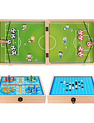 cheap -Fast Sling Puck Game Gobang Flying Chess 3 in 1 Set Winner Board Foosball Game Wooden Desktop Hockey Battle Ejection Toy 23.6 x 11.8 Large Size for Kids Adult Home Family Entertainment