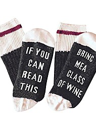 """cheap -Funny Socks Size L With Saying """"If You Can Read This Bring Me A Glass Of Wine"""" 
