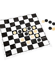 cheap -Checkers Game 24pcs Draught Checker Game Wooden International 0.75in Diameter Family Gathering Kids and Adults Entertainment for All Ages