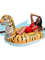 cheap -Inflatable Pool Float Lounge Raft with Handles Ride on PVC / Vinyl Tiger Water fun Party Favor Summer Beach Swimming 1 pcs Boys and Girls Kid's Adults'