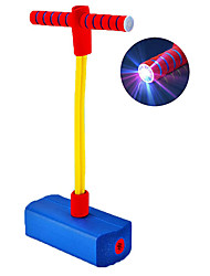 cheap -Pogo Stick for Kids Foam Pogo Jumper with Flashing LED Light and Fun Badge (Blue)