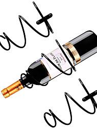 cheap -6 Pcs Wall-Mounted Wine Rack Wine Bottle Display Rack with Screws Metal Hanging Wine Rack Storage for Storing Bottles
