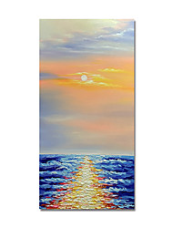 cheap -Oil Painting Hand Painted Abstract Landscape by Knife Canvas Painting Comtemporary Simple Modern Stretched Canvas Ready to Hang