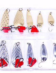 cheap -10 pcs Lure kit Fishing Lures Hard Bait Spoons Bass Trout Pike Lure Fishing