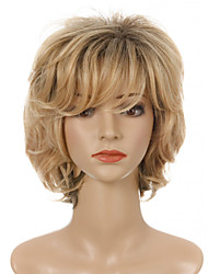 cheap -Synthetic Wig Curly Side Part Neat Bang Wig Short Light Blonde Synthetic Hair Women's Cosplay Party Fashion Blonde
