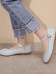 cheap -Women's Flats Flat Heel Round Toe PU Synthetics White Blue Pink