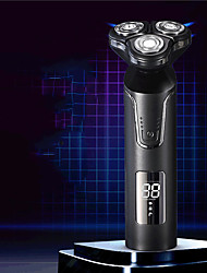 cheap -Smart Digital Display Electric Shaver Rechargeable 3D Washing Head Razor Male Beard Knife
