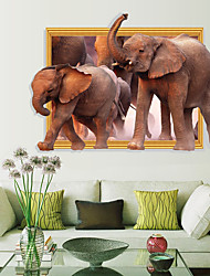 cheap -Broken Wall Picture Frame Elephant Bedroom Porch Living Room Study Dining Room Decoration Wall Pasting 60x90cm