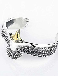 cheap -eagle cuff bracelet, 925 sterling silver retro rock punk bangle cuff wristband bracelet, fashion adjustable eagle cuff wrisband open ended bangle jewelry gifts for men women (gold)