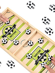 cheap -Fast Sling Puck Game Paced Table Desktop Battle Sling Foosball Winner Wooden Hockey Board Game for Family Adults and Kids 2 Player Board Games Toys