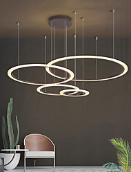 cheap -LED Pendant Light Circle Design Modern Pendant Lights Chandelier For Living Room Dining Room Geometry Circle Rings Acrylic Aluminum Body LED Lighting Ceiling Lamp Chandeliers 110-240V