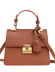 cheap -Women's Bags Top Handle Bag Daily Office & Career Handbags White Black Khaki Brown