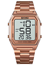 cheap -SKMEI Men's Sport Watch Digital Digital Sporty Modern Style Calendar / date / day Chronograph Alarm Clock / One Year / Stainless Steel