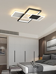 cheap -52 cm LED Ceiling Light Dimmable Square Design Black Gold Geometric Shapes Flush Mount Lights Metal Geometrical Painted Finishes LED Modern 110-120V 220-240V