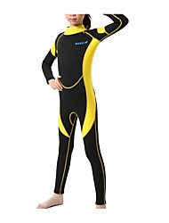 cheap -Kids Girls' Swimwear Rash Guard One Pieces One Piece Swimsuit Print Swimwear Print Color Block Blue Yellow Red Active Bathing Suits