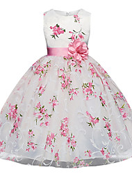 cheap -Kids Girl's Dresses for Girls, Sleeveless, Special Occasion Dresses White 5-6 Years