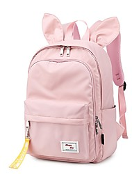 cheap -Boys' Girls' Oxford Mini Backpack Large Capacity Zipper Geometric Daily Outdoor Sillver Gray Black Grey Blue Blushing Pink