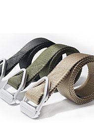 cheap -Men's Military Tactical Belt Breathable Wearable Quick Release for Camping / Hiking Hunting Fishing Solid Colored Nylon Canvas Fall Spring Summer