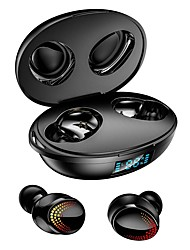 cheap -K1 TWS Bluetooth Earphone Touch Control Dual Digital Display Wireless HiFi Stereo Denoise Waterproof Sports Earbuds with Mic
