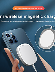 cheap -Mini Wireless Magnetic Charger with Phone Holder 15W Fast Charging Portable Wireless Charger for iPhone 12 Pro Max 11 Pro XR XS Max Samsung Xiaomi Huawei Oneplus 9 Wireless Charge