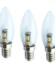 cheap -3pcs 1 W LED Candle Lights 60 lm E14 C35 7 LED Beads SMD 5050 Decorative 180-240 V