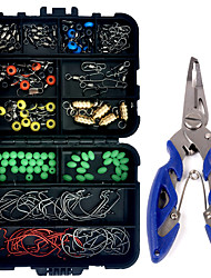 cheap -172 pcs Fishing Hooks Fishing Snaps & Swivels Fishing Line Sinker Slides Fishing Accessories Set Metal ABS Easy to Carry Easy to Use Sea Fishing Other