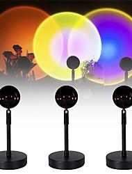 cheap -Sunset Projector Lamp Rainbow Lamp on Tiktok Sunset LED Projector Rainbow Rotating Photo Video Selfie Mood Light Bedroom Projector