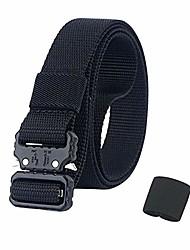 "cheap -qazse mens quick release nylon belt small metal buckle sports narrow golf webbing belt 1"" wide black 39"""