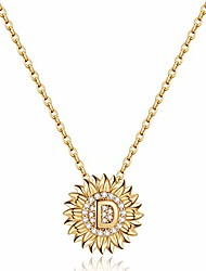 cheap -dainty sunflower necklace sunflower gifts, cz initial d sunflower necklace for women letter necklaces for teen girls jewelry sunflower gifts for women 14k gold initial necklaces sunflower jewelry