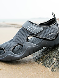 cheap -Men's Sandals Casual Beach Daily Water Shoes Upstream Shoes Elastic Fabric Breathable Non-slipping Wear Proof Black Brown Gray Summer