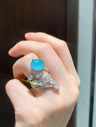 cheap -Band Ring Synthetic Sapphire Classic Blue Gold Plated Peacock Stylish Simple European 1pc Adjustable / Women's / Adjustable Ring