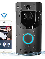 cheap -Wireless Doorbell WiFi Video Smart Talk Door Ring Security HD Camera Bell (With Ding Dong) No Batteries Included