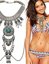 cheap -Body Chain Boho Women's Body Jewelry For Holiday Tropical Alloy Silver Gold