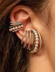 cheap -Women's Single Earring Trendy Imitation Pearl Earrings Jewelry Blue / Champagne / Green For Date Festival 1pc