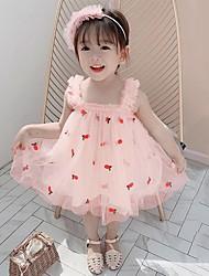 cheap -ins children's skirt summer new sling girls dress embroidered sweet gauze skirt children's dress princess dress summer dress