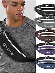 cheap -Hiking Waist Bag Lightweight Rain Waterproof Wearable Reflective Trim Outdoor Fitness Hiking Bike / Bicycle PU(Polyurethane) Multi color Black Purple