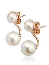 cheap -Women's Stud Earrings Geometrical Precious Fashion Imitation Pearl Earrings Jewelry Gold For Christmas Birthday Party Evening Gift Date 1 Pair