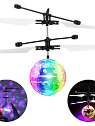 cheap -Colorful Mini Drone Shinning LED RC drone Flying Ball Helicopter Light Crystal Ball Induction Dron Quadcopter Aircraft kids toys