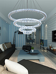 cheap -Modern LED Ring Crystal Chandeliers DIY Shape Indoor Pendant Light Lamp Hanging Chandelier Lights Lighting Cristal Suspensions Lamps