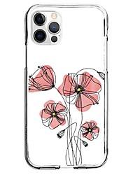 cheap -Plants Floral / Botanical Phone Case For Apple iPhone 13 12 Pro Max 11 X XR XS Max iphone 7/8 iphone 7Plus / 8Plus Unique Design Protective Case Pattern Back Cover TPU