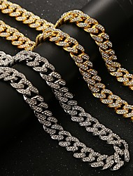 cheap -Men's Chains Necklace Hip Hop Alloy Silver Gold 45-71 cm Necklace Jewelry 1pc For Street