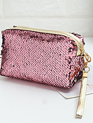 cheap -Women's Bags Polyester Cosmetic Bag Zipper Sequin Daily Sequins Handbags Black Blue Red Blushing Pink