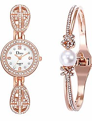 cheap -Women's Watches Sale Jukila Women Analog Quartz Chain Watch Light Luxury Girl Fashion Classic Wrist Watch Casual Business Bracelet Watches Gift Round Dial Case Stainless Steel Band Watches