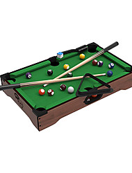 cheap -Mini Tabletop Pool Set- Billiards Game Includes Game Balls Sticks Chalk Brush and Triangle-Portable and Fun for the Whole Family by Hey! Play!