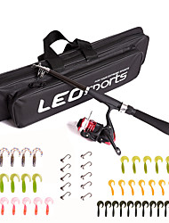cheap -Fishing Rod and Reel Combo Telescopic Rod 160 cm Portable Lightweight Freshwater Fishing Carp Fishing Bass Fishing