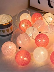 cheap -Ball LED Lighting Party Favor Home Decor 3M/20 LEDs 3* AA Batteries(NO INCLUDE) Kid's Adults' for Birthday Gifts and Party Favors  Indoor Outdoor