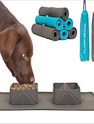 cheap -Dog Cat Pets Feeders 0.5 L Portable Foldable Lolita Green Gray Bowls & Feeding